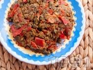 Комбос - ястие с лапад, яйца и сушени чушки